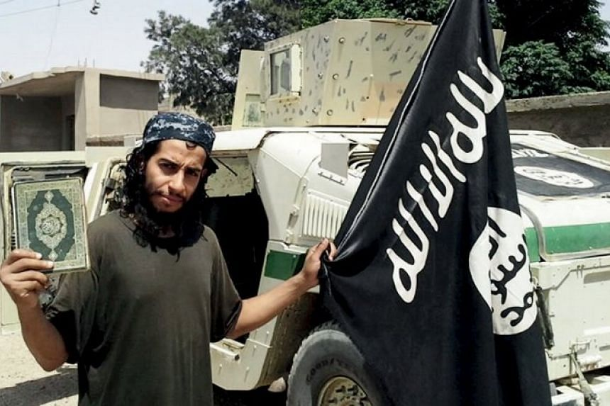 A man described as Abdelhamid Abaaoud that was published in the ISIS online magazine Dabiq and posted on a social media website.