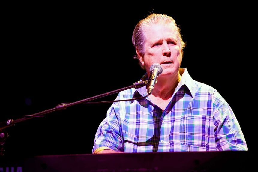 Brian Wilson during a performance at the Singapore Indoor Stadium on Aug 22,  2012.