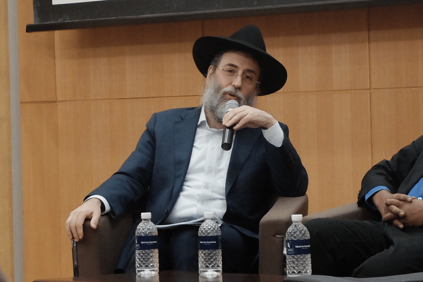 Chief Rabbi of Singapore Mordechai Abergel at a panel discussion commemorating International Holocaust Remembrance Day on Jan 27, 2016.