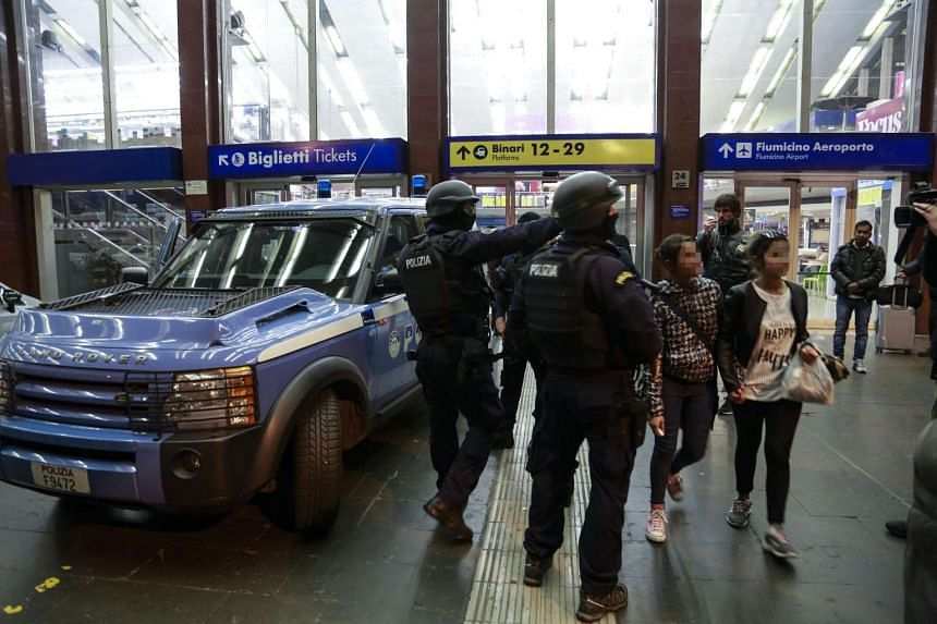 Rome's Termini rail station was evacuated on Jan 25, 2015, after reports of an armed man inside.