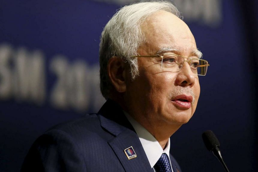 Malaysia's PM Najib Razak speaking at the opening of the International Conference on Deradicalisation and Countering Violent Extremism on Jan 25, 2016.