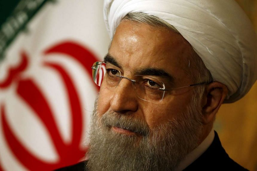 Iran President Hassan Rouhani attends a news conference in Rome on Jan 27, 2016.