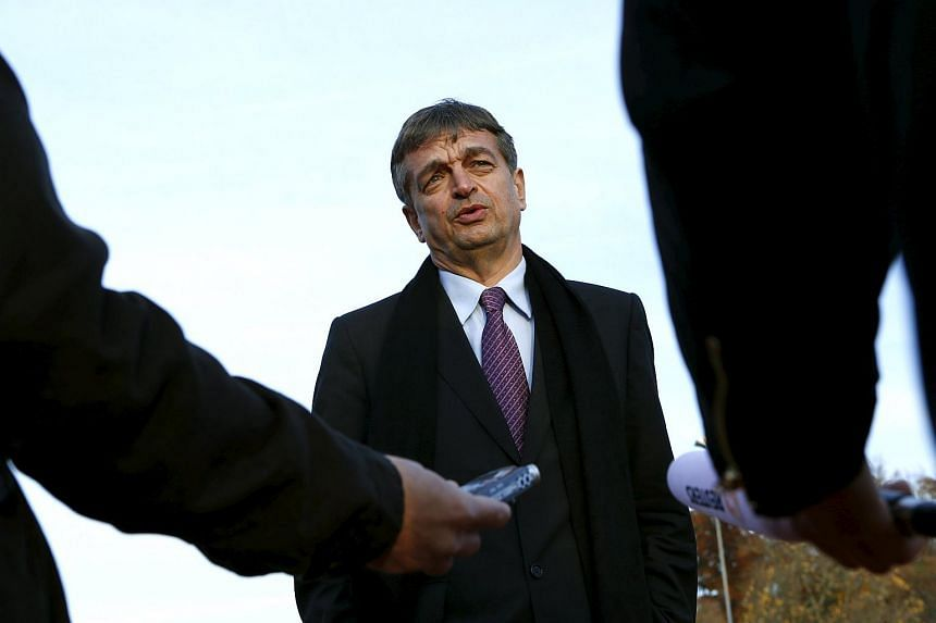 Fifa presidential candidate Jerome Champagne speaks during a Reuters interview in Switzerland, on Oct 30, 2015.
