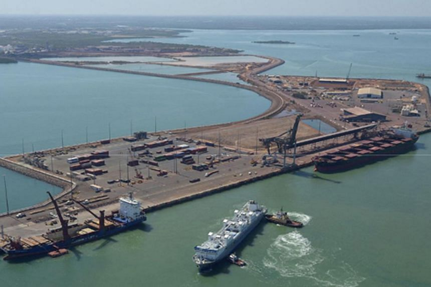 A port in the northern Australian city of Darwin.