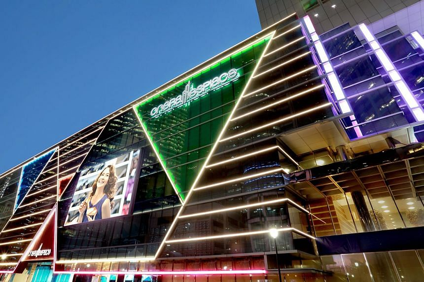 One Raffles Place shopping mall, located above Raffles Place MRT Station.