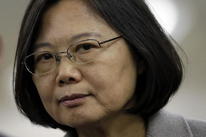 Taiwan opposition leader and president-elect Tsai Ing-wen reacts during an interview in Taipei, Taiwan, on Jan 20, 2016.
