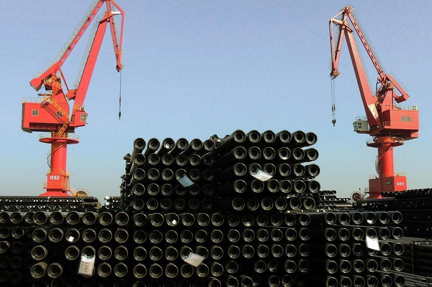 Profits earned by Chinese industrial firms in December fell 4.7 per cent from a year earlier.