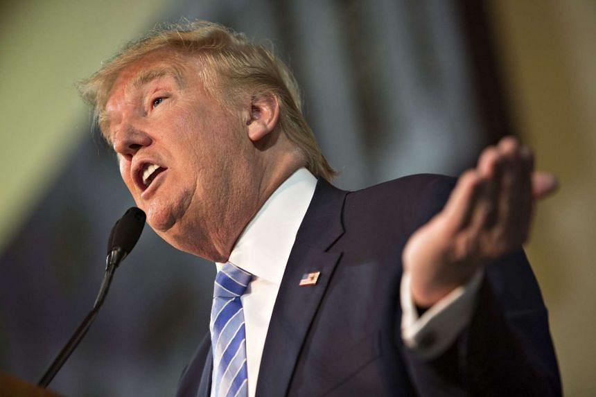 Donald Trump, president and chief executive of Trump Organization Inc. and 2016 Republican presidential candidate, speaks during a campaign rally in Muscatine, Iowa, US on Jan 24, 2016.