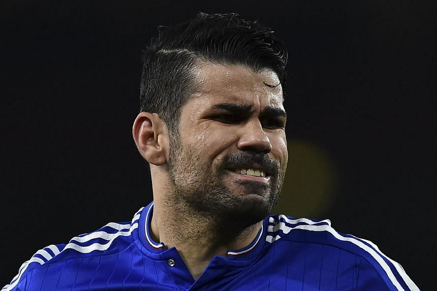 Chelsea's Diego Costa reacts after being caught offside during the English Premier League football match on Jan 24, 2016.