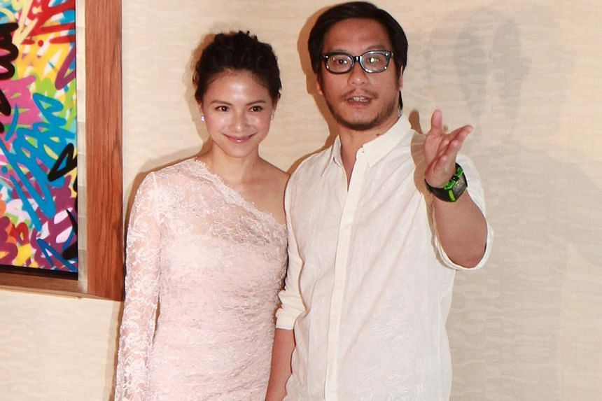 Actress Lee Sinje and husband Oxide Pang.