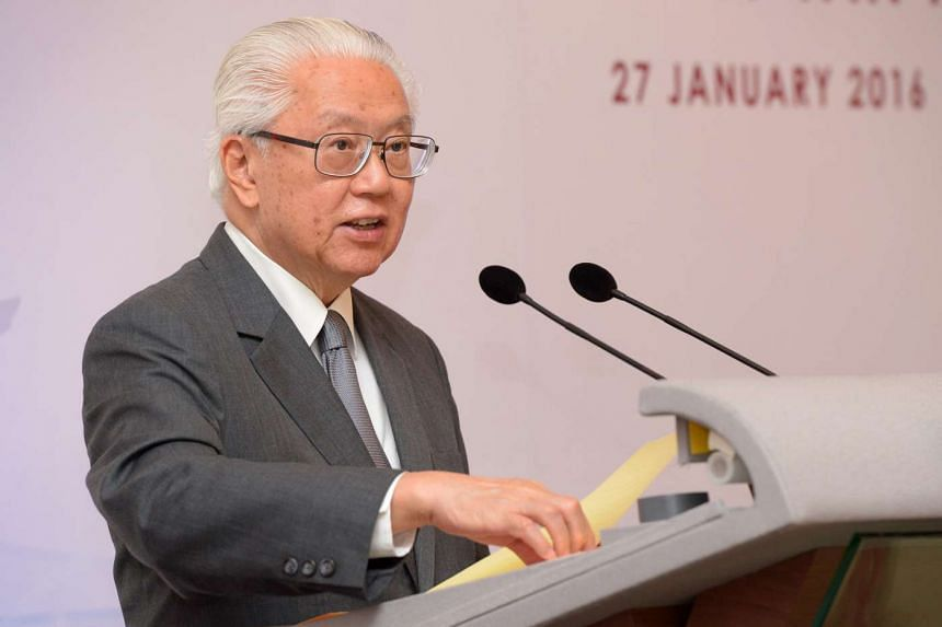 President Tony Tan Keng Yam speaking at the President's Challenge 2015 Appreciation Night at the Istana, Jan 27, 2016.