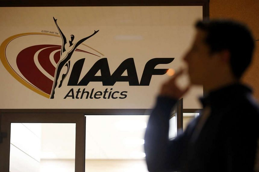 The logo at the the International Association of Athletics Federations (IAAF) headquarters in Monaco, on Jan 14, 2016.