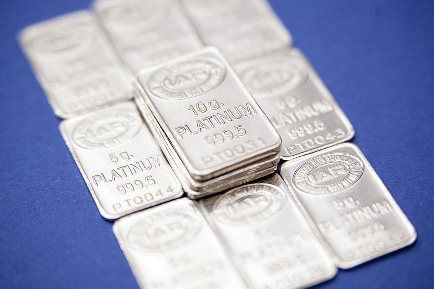 Platinum bars at the Istanbul Gold Refinery in Turkey in 2011.