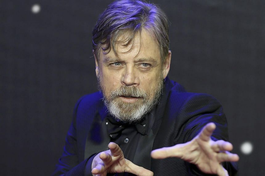 Mark Hamill at the European Premiere of Star Wars, The Force Awakens, in London, on Dec 16, 2015.