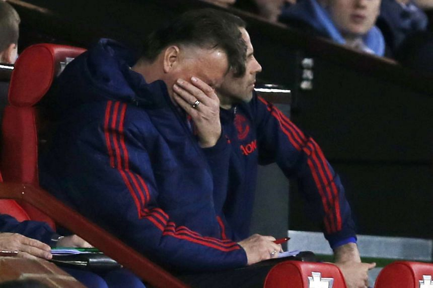 Manchester United manager Louis van Gaal reacting during the match against Southampton on Jan 23, 2016.