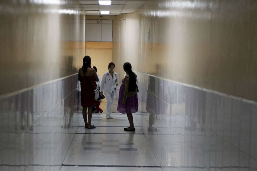 Pregnant women waiting to be attended to at the Maternal and Children's Hospital in Tegucigalpa, Honduras.