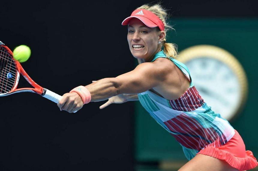 Germany's Angelique Kerber during her semi-final match against Britain's Johanna Konta at the 2016 Australian Open on Jan 28, 2016.