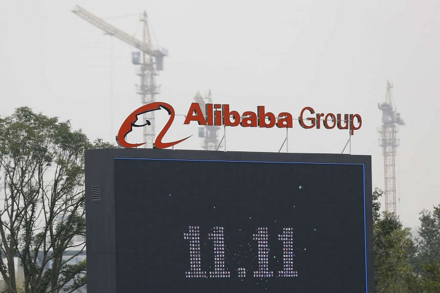 Sales at Alibaba rose 32 per cent to 34.5 billion yuan (S$7.4 billion) in the three months ended December, the company said in a statement on Jan 28, 2016.