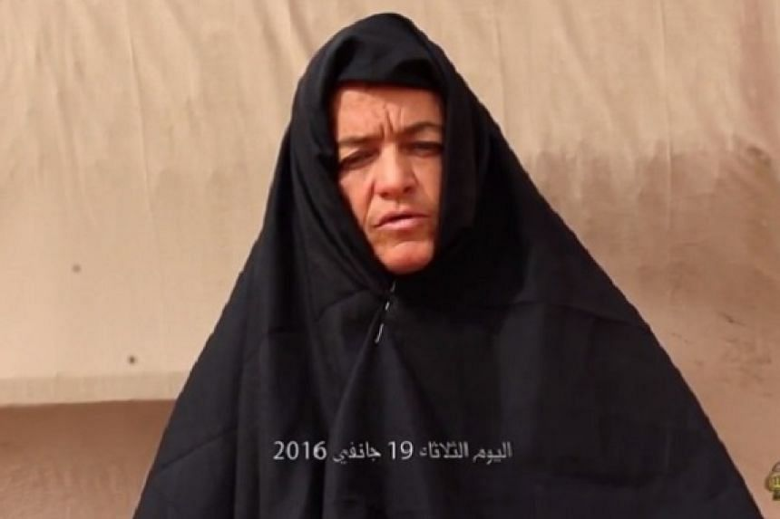 A screenshot of the woman in the video said to be Beatrice Stockly.