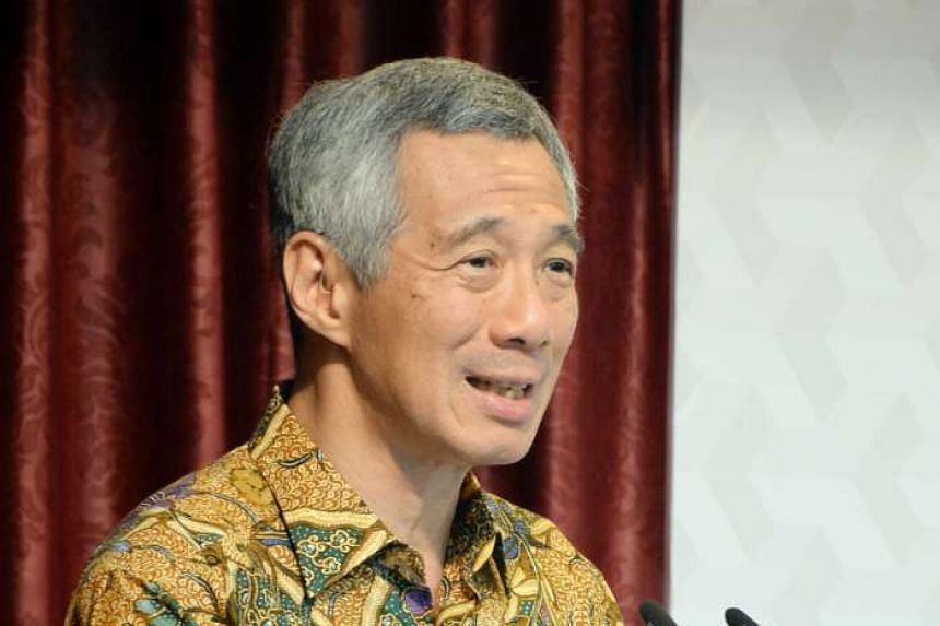 Prime Minister Lee Hsien Loong at the East Asia Summit Symposium on Religious Rehabilitation and Social Reintegration, held at Khadijah Mosque on April 17, 2015.