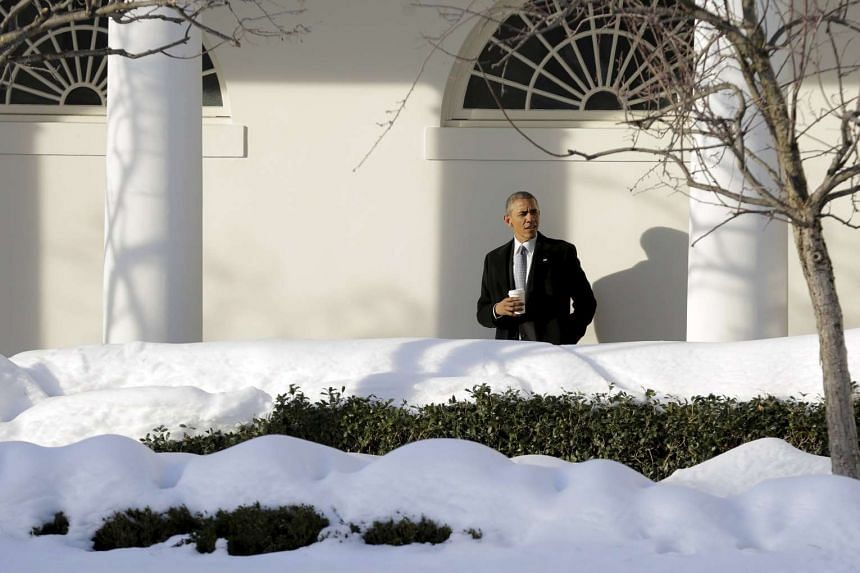 US President Barack Obama walks to the Oval Office at the White House in Washington earlier this week.