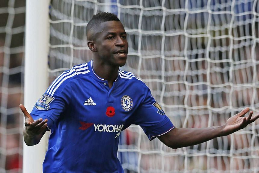 Ramires celebrates after scoring for Chelsea on Oct 31, 2015.
