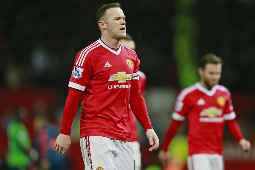 Manchester United's Wayne Rooney looking dejected at the end of the match against Southampton on Jan 23.