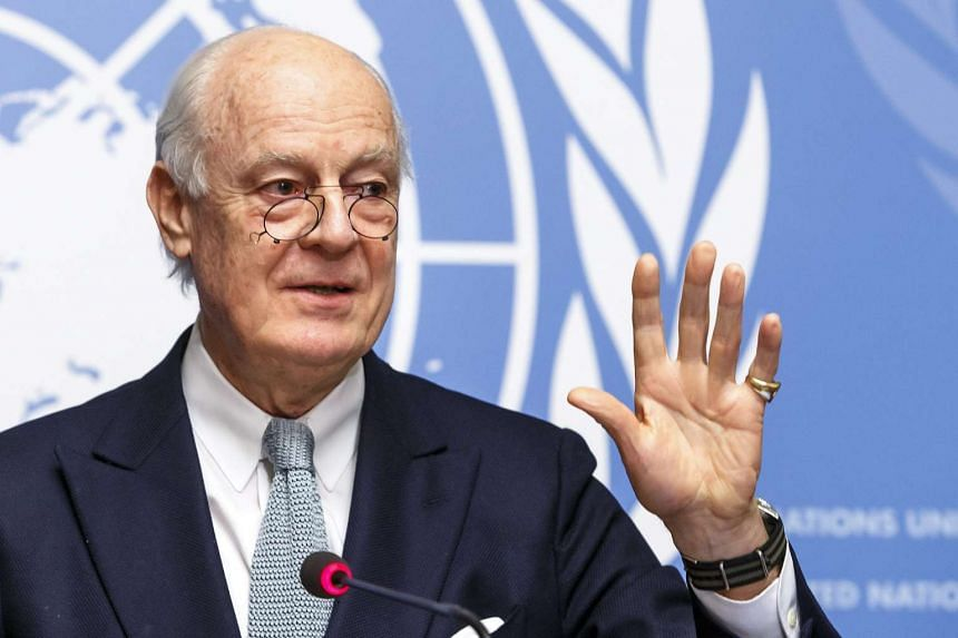 Special Envoy of the Secretary-General for Syria Staffan de Mistura during a press conference on Jan 25, 2016.