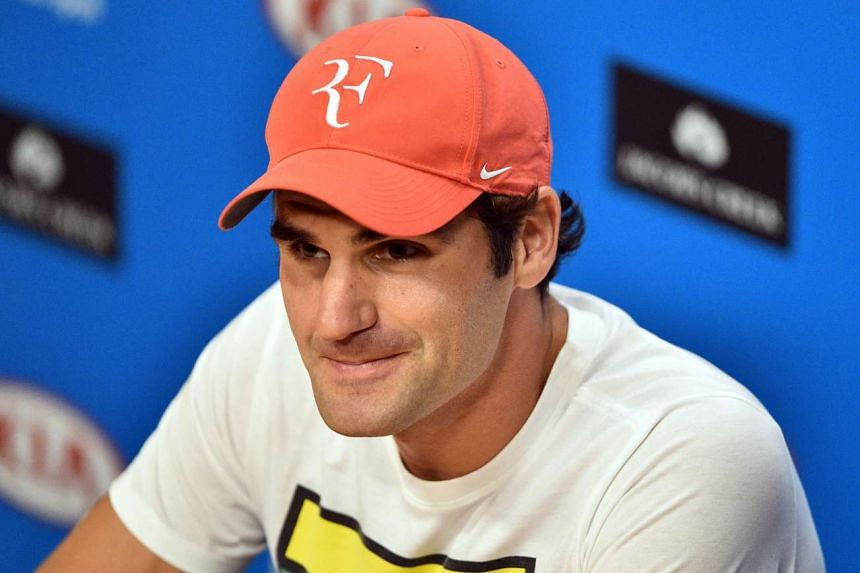 Roger Federer during a press conference on Jan 28. 2016.
