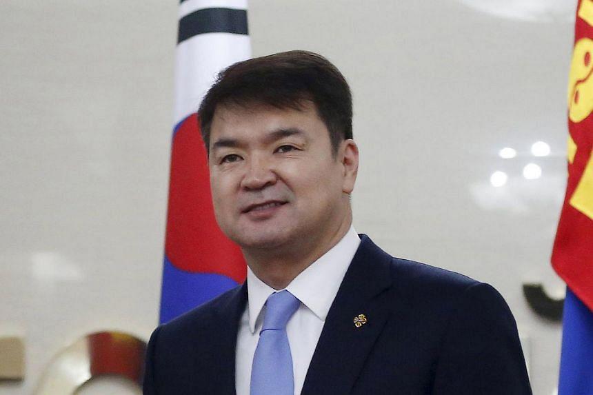 Mongolian Prime Minister Saikhanbileg Chimed.