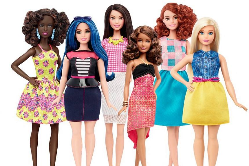 Barbie has three new body types - petite, tall and curvy.