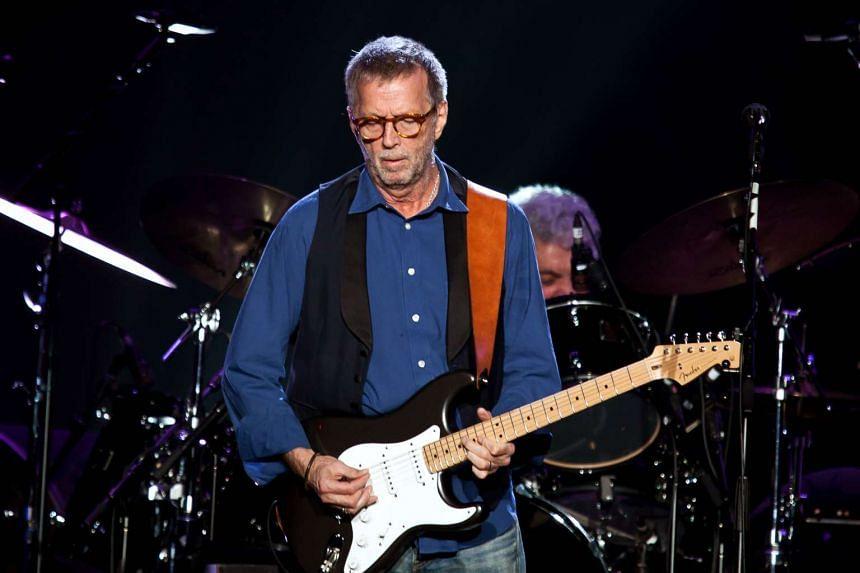 Eric Clapton performing at the Singapore Indoor Stadium in 2014.