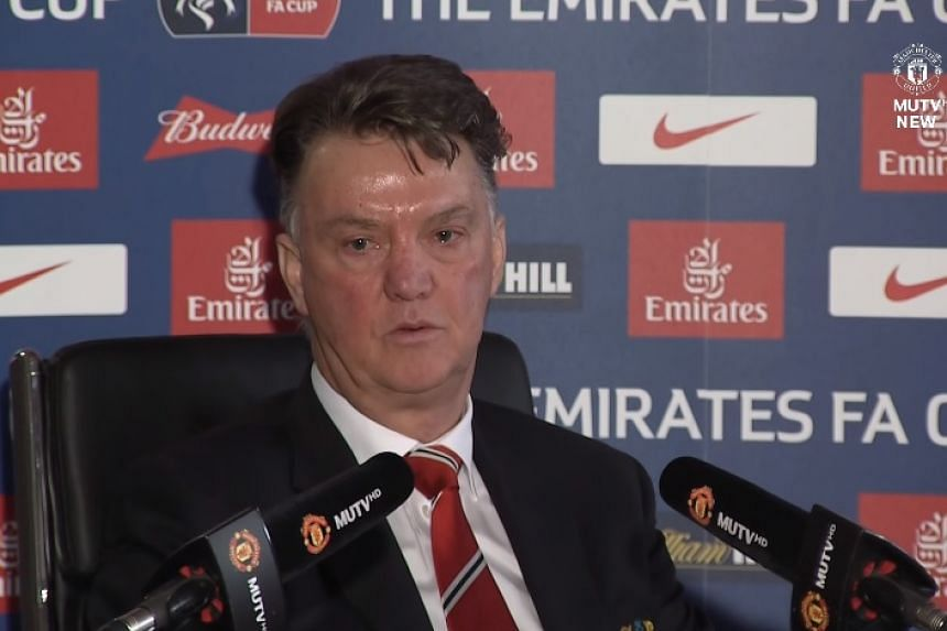 Louis van Gaal at the pre-match press conference.
