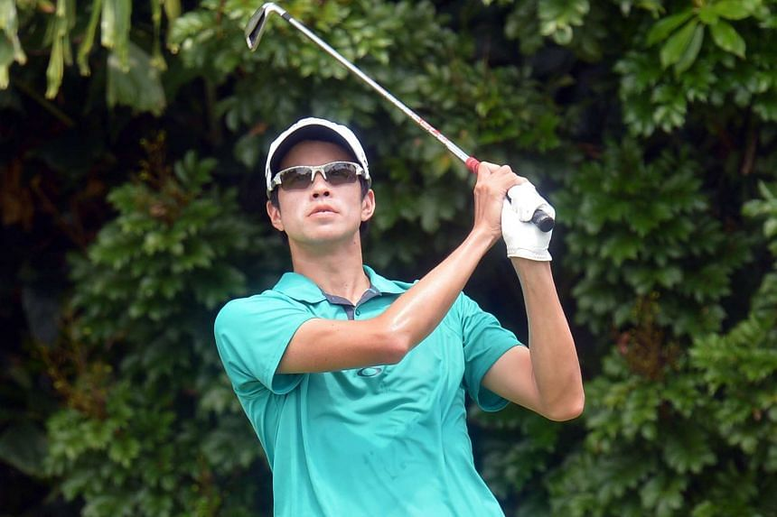 It was a fine opening day for Quincy Quek, with a blemish-free round of 68 which included three birdies. He went through Q-School earlier this month and is trying his luck on the Asian Tour after two years in China.
