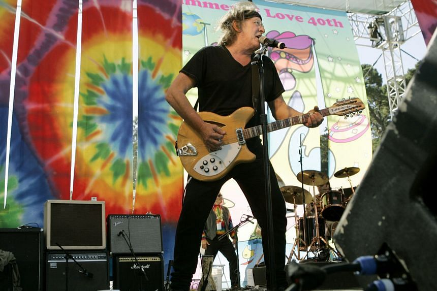Guitarist Paul Kantner on stage during the Summer Of Love 40th anniversary concert in San Francisco in 2007.