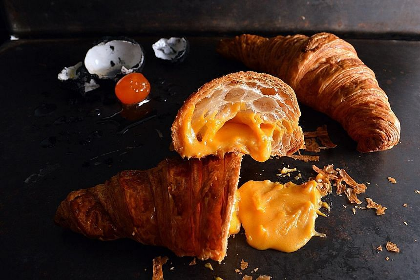 French pastry chain Antoinette will offer its version of the salted egg yolk croissant from Monday.