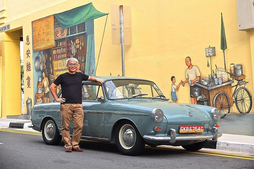 Mr Michael Cai does not drive his Volkswagen Type 3 too far because it is too precious to him.