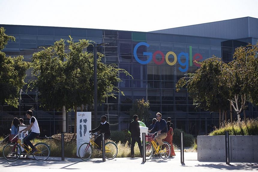 Google's headquarters in Mountain View, California. The Internet giant channels its European profits to Bermuda to reduce tax.