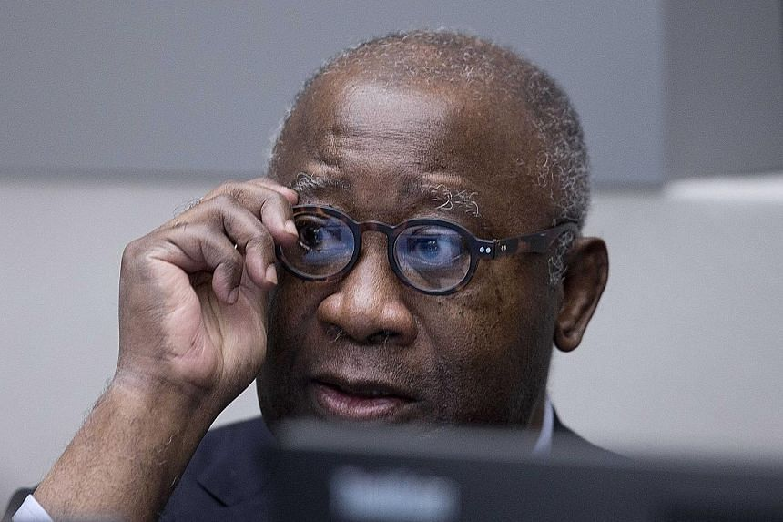 Gbagbo, 70, waiting for the start of his trial at the International Criminal Court in The Hague on Thursday.