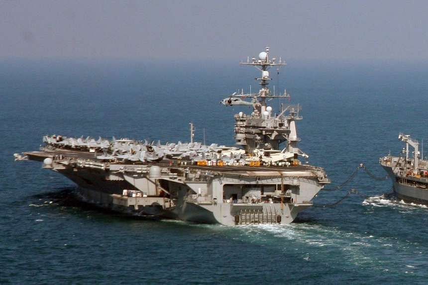 The US aircraft carrier USS Harry S Truman in an undated photo.