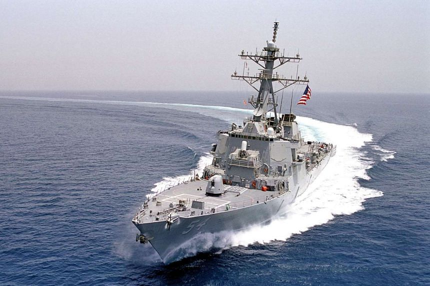 The guided-missile destroyer USS Curtis Wilbur patrolling in the Arabian Gulf in a file photo.
