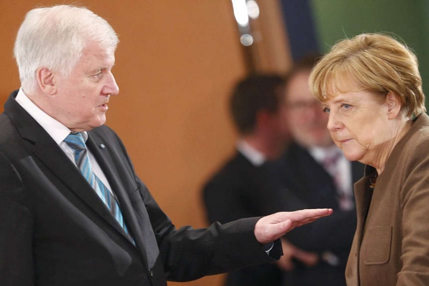 German Chancellor Angela Merkel with Bavarian Prime Minister Horst Seehofer, who is head of the Christian Social Union in the coalition government. The two, together with Vice-Chancellor Sigmar Gabriel, who heads the Social Democratic Party, have rea