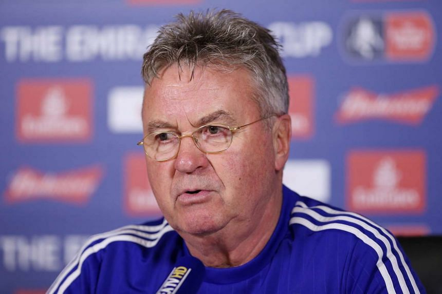 Chelsea manager Guus Hiddink during the press conference on Jan 29, 2016.
