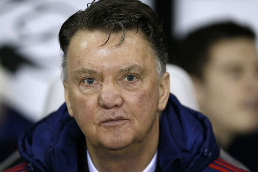 Manchester United manager Louis van Gaal before the match on Jan 29, 2016.