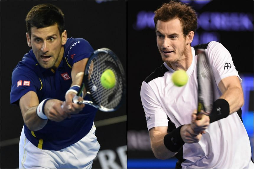 Novak Djokovic (left) and Andy Murray will face off in the men's final of the Australian Open 2016.