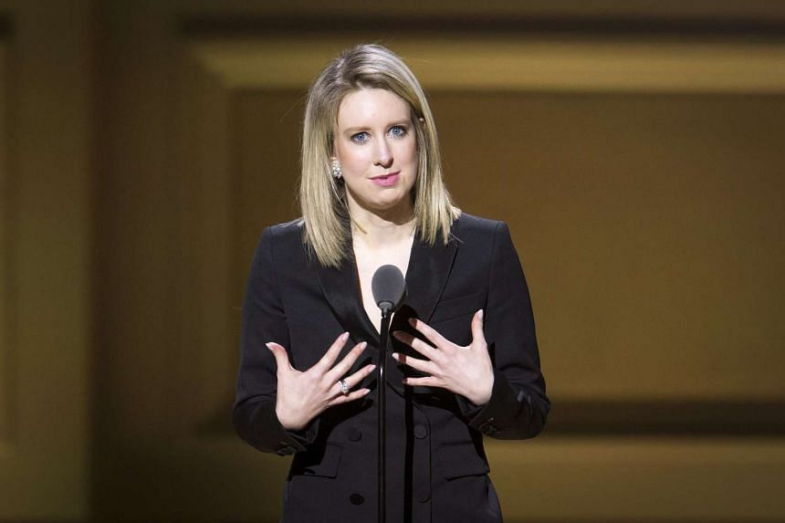 Theranos Chief Executive Officer Elizabeth Holmes speaks on stage at the Glamour Women of the Year Awards on Nov 9, 2015.