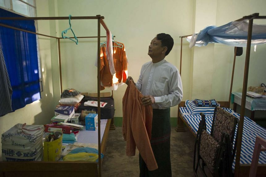 Myanmar member of parliament Tin Thit in the city development committee building in Naypyidaw, on Jan 30, 2016.