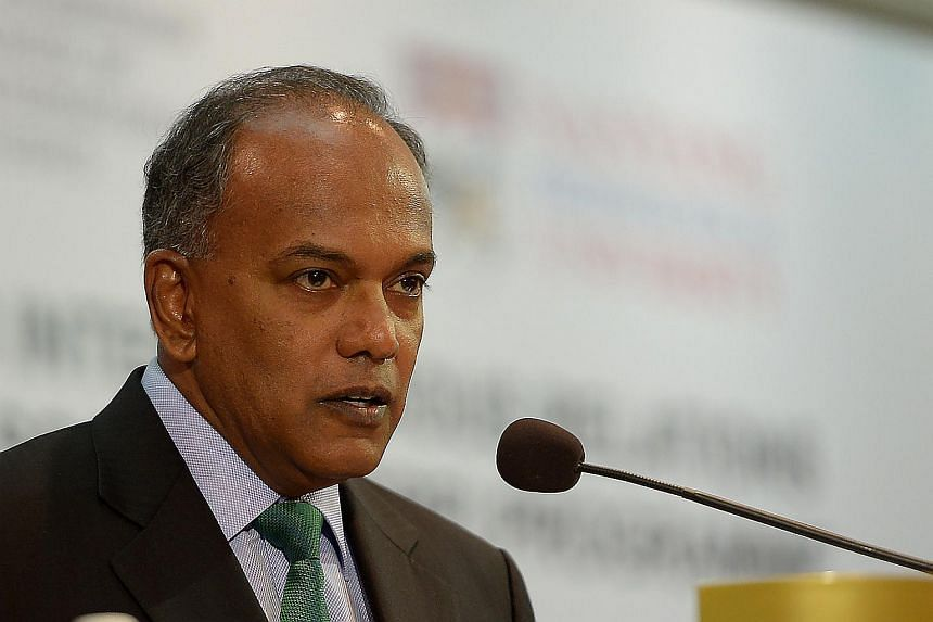 Minister for Home Affairs & Law K Shanmugam at the Studies in Inter-Religious Relations in Plural Societies lecture and symposium, on Jan 19, 2016.