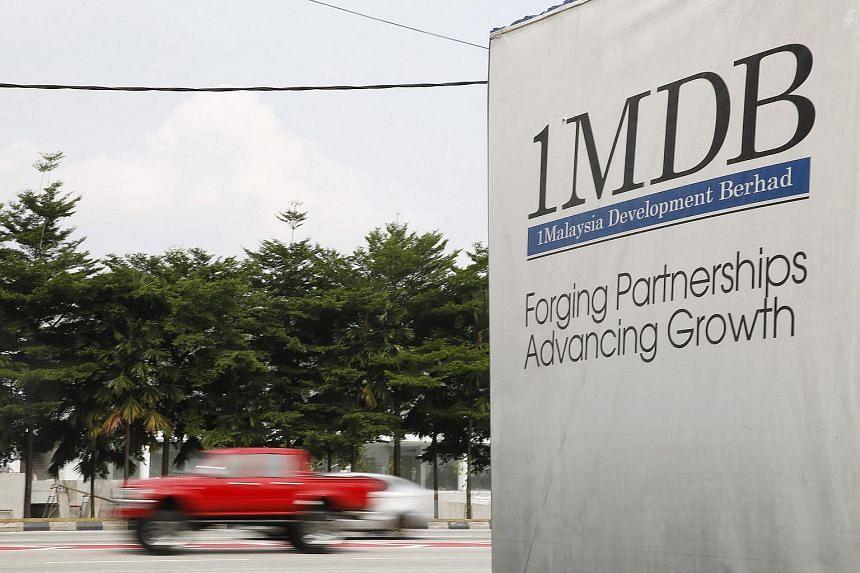 A 1MDB billboard at the Tun Razak Exchange development in Kuala Lumpur, Malaysia on July 6, 2015.