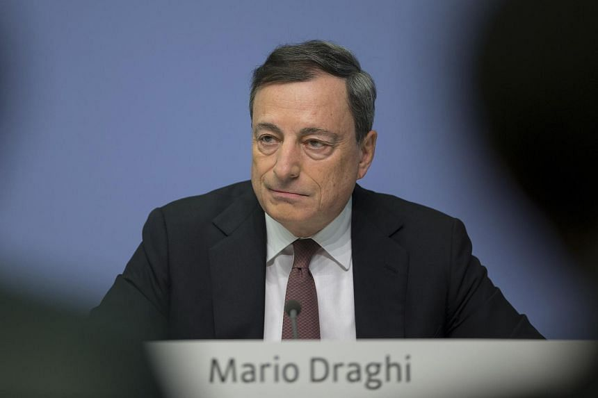 President of the European Central Bank (ECB) Mario Draghi at the ECB headquarters in Frankfurt, Germany, on Jan 21, 2016.